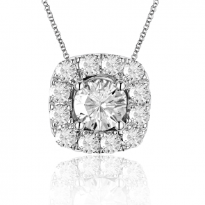 Phantom 105 Pendant with 105 faceted center diamond