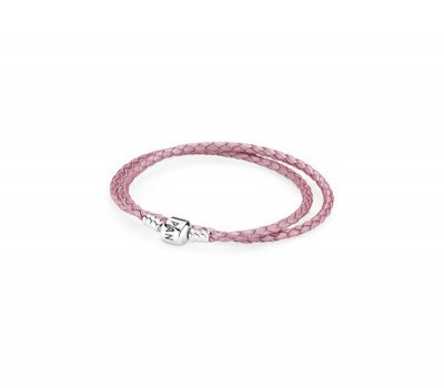 Pandora Pink Double Leather Bracelet