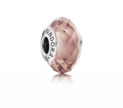 Fascinating Blush Pink Crystal Glass Charm