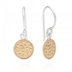Petite Circle Drop Earrings