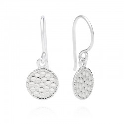 Petite Circle Drop Earrings
