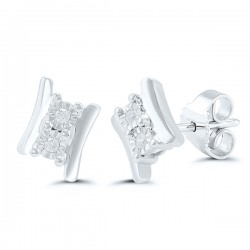 Sil Two Stone Studs d=.05cttw