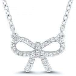 66 .10Tw Diamond Bow Pendant
