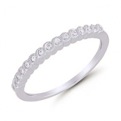 10kt .10ct stackable band