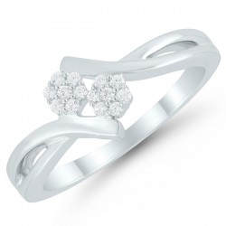 Sterling silver .10Tw Diamond Fashion Ring