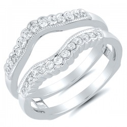 14 karat white gold .33Tw Diamond Wrap