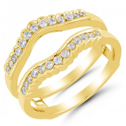 14 karat yellow gold .33Tw Diamond Wrap