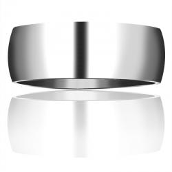 Titanium Domed Wedding Band