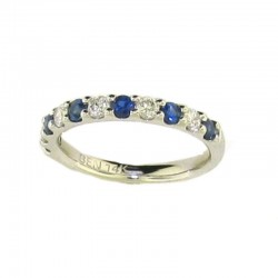 14kw 0.28ct sapphire, 0.21 dia band,  size 5.5