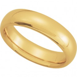 14K Yellow Gold Comfort-Fit Plain Wedding Band 5mm