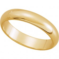14K Yellow Gold Comfort-Fit Plain Wedding Band 4mm