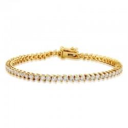 14ky 2ct Dia Tennis Bracelet I/J I1