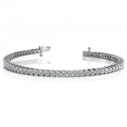 14kw 4ct Dia Tennis Bracelet G/H SI1/2