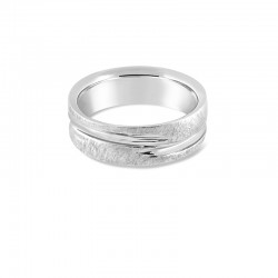 Sholdt 14K White Gold Approx 7Mm Center Wave Band