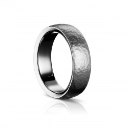 Sholdt 14K White Gold 6.5Mm W/ Hammered Finish Band