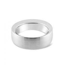 Sholdt 14K White Gold 8Mm Ultra Heavy Band