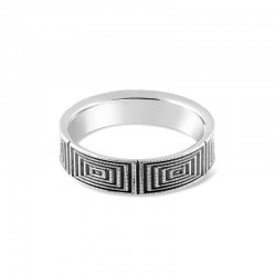 Sholdt 14K White Gold Approx 5.75Mm Geometric Design Band