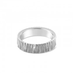Sholdt 14K White Gold Vertical Organic Lines Band