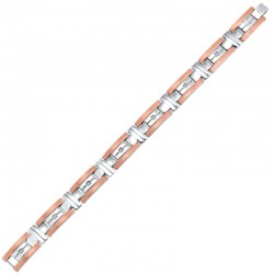 Steel Diamond Bracelet 1/10 ctw