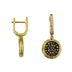 Diamond & Mocha Dia Earring
