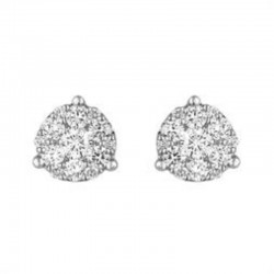 0.50ctw Dia Cluster Earrings 14kw