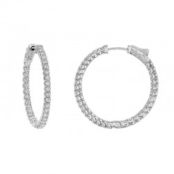 14kw 2.25ct tw Diamond Hoops