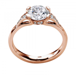 18K Rose Gold Diamond Solitaire
