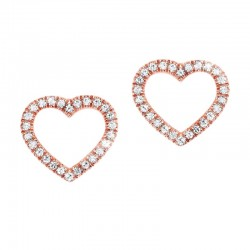 14kw Dainty Delicacies Dia Heart Earrings .09cttw