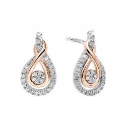 10ktw/Sil/rplate Diamond Earrings; .21cttw