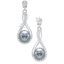 Silver Shell Pearl Earring