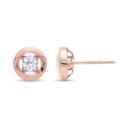 10kr 1/6ctw Diamond Earrings
