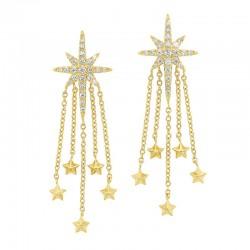 14K Diamond Earrings 1/4ctw