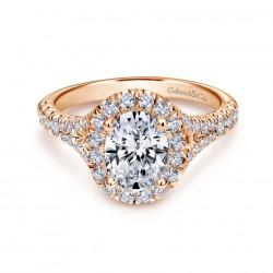 Gabriel & Company 14Karat Rose Gold .71ct Dia Semi-Mount