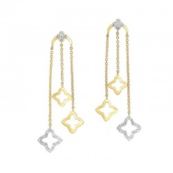 Gold Diamond Earrings 1/3 ctw