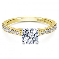 Gabriel & Company 14Karat Yellow Gold .28ct Dia Semi-MOUnt