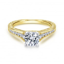 Gabriel & Company 14Karat Yellow Gold .28ct Dia Semi-Mount