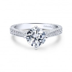 Gabriel & Company 14Karat White Gold .23ct Dia Semi-Mount