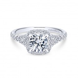 Gabriel & Company 14Karat White Gold.79ct Dia Semi-Mount