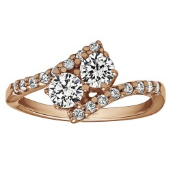 FA223 - Diamond Two Stone Ring