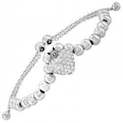 SIL DCZ Heart Bolo Bracelet