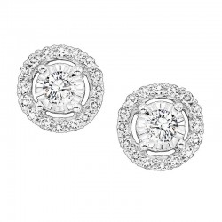 14K Diamond Earring 1/4ctw