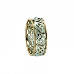 "Sterling Silver/10K Window To The Soul ""Ness"" Ring Size 10"