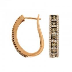 Diamond &Mocha Diamond Earring