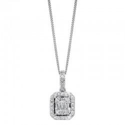 14K Diamond Pendant 3/4ctw