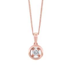 10kr .08ct Diamond Pendant