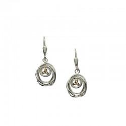Sterling Silver & 10K Celtic Cradle Of Life Leverback Earrings