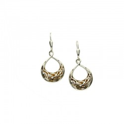 Sterling Silver & 22K Gilded Window To The Soul Teardrop Leverback Earrings