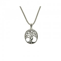 Sterling Silver Tree Of Life Large Pendant