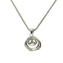 Sterling Silver & 10K Celtic Cradle Of Life Small Pendant