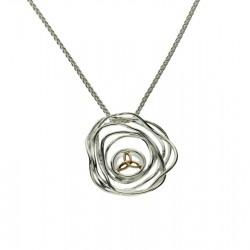 Sterling Silver & 10K Celtic Cradle Of Life Pendant